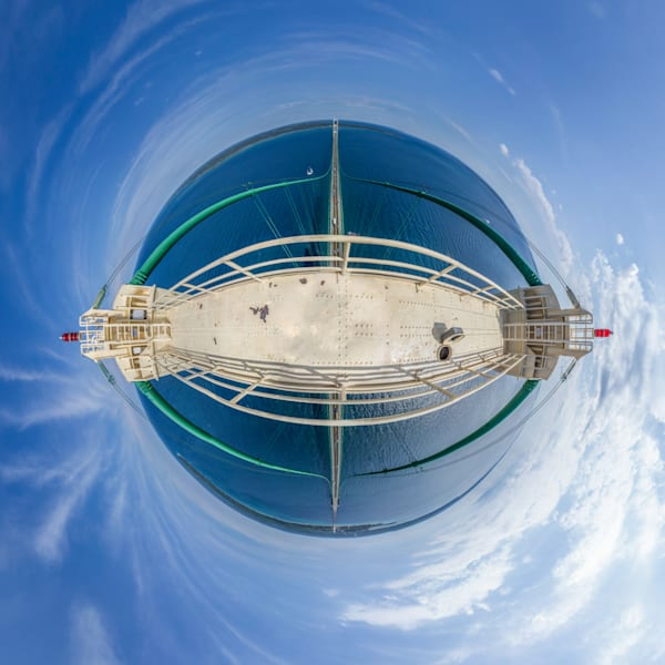Top of the Mackinac Bridge - 360 Planet