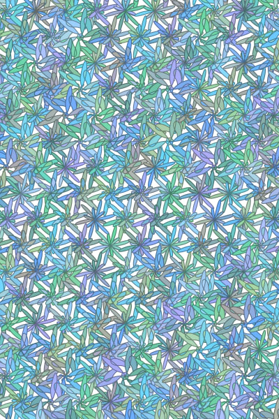 Blue-Green Floral Art Canvas