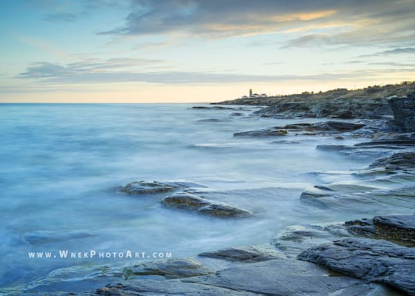 Peter Wnek photograph of the coastline at Beavertail State park in Rhode Island.