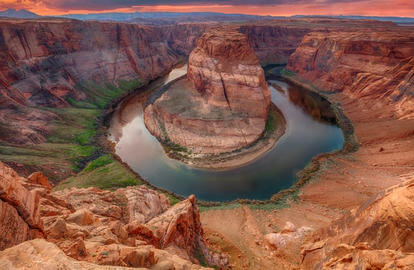 Sunset At Horseshoe Bend photograph for sale as art by Mike Jensen