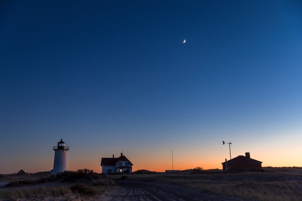 Race Point Lighthouse at night