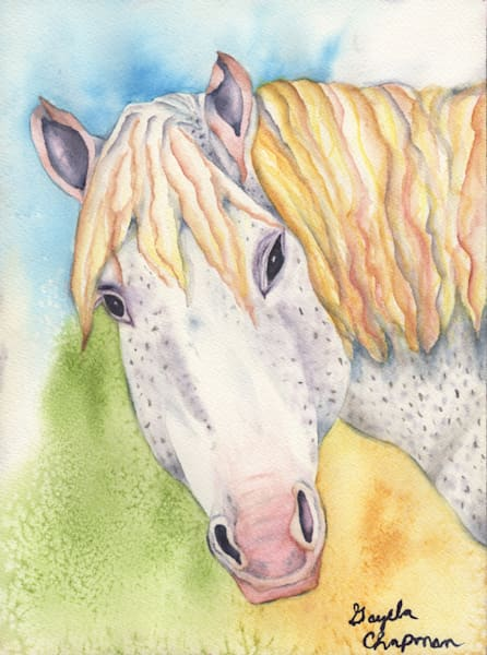 """Bronci"" horse art by Gayela's Premiere Watercolors