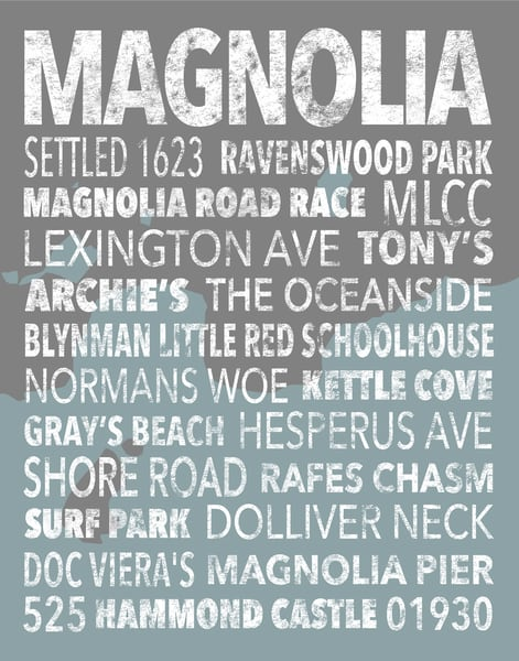 Hometown Graphics Magnolia Beachy Art | capeanngiclee