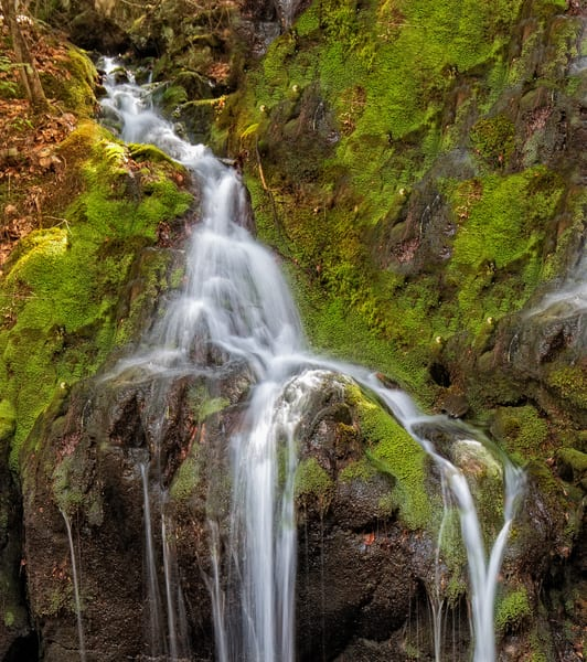 Mossy Green Waterfall in Chesterfield New Hampshire