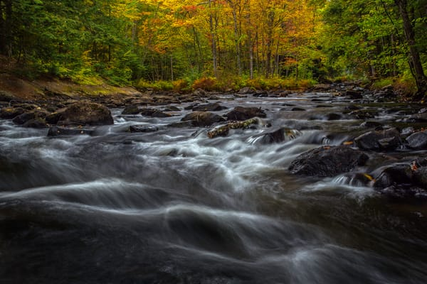 Antrim, New Hampshire's Upper Branch River flowing well