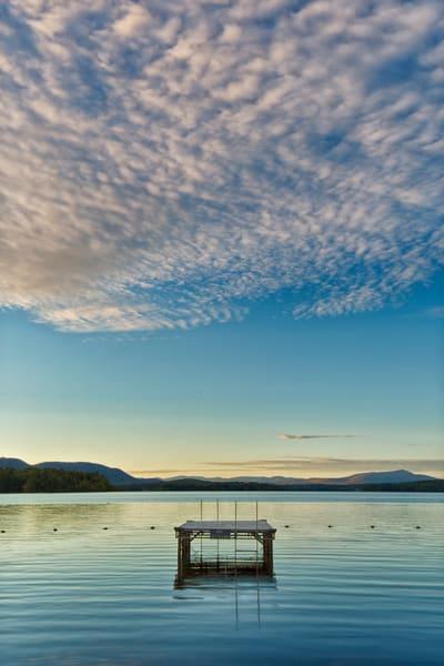 Lake Umbagog Clouds and Sunset Light