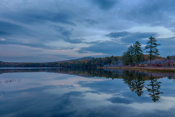 Pleasant Pond blue hour reflections
