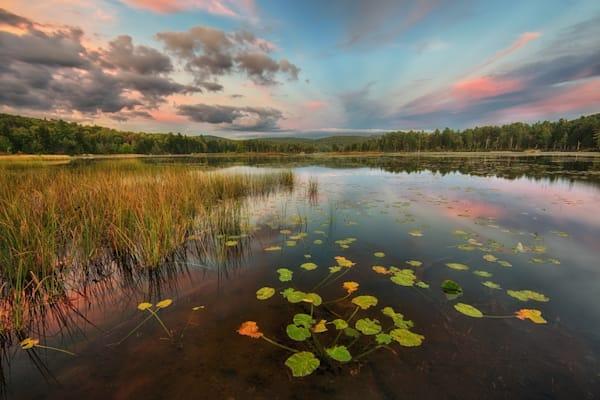 Soft afternoon light on Pleasant Pond, Hennikker, NH