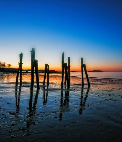 Massachusetts West Beach Pier at Dawn