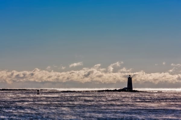 Whaleback Light in Winter