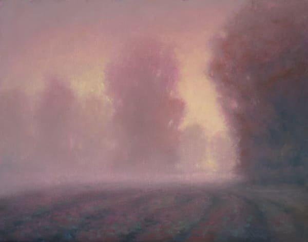 Foggy Morning landscape oil painting by Michael Orwick Oregon Artist