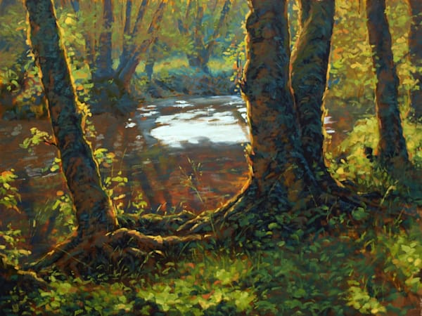 Little Creek by Modern Painter Michael Orwick