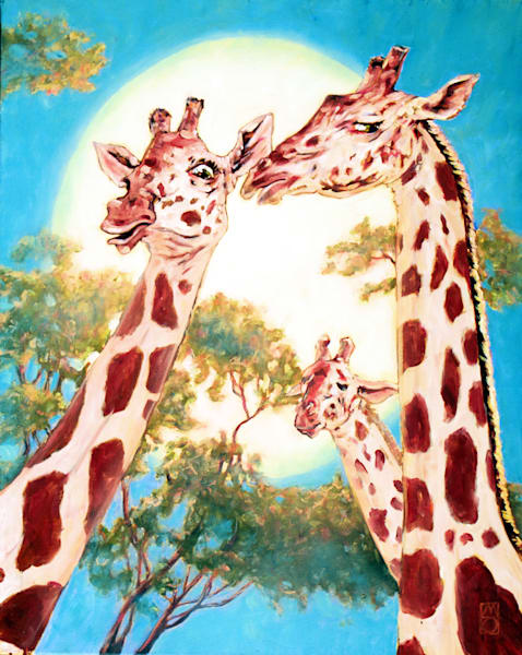 G Is For Gossiping Giraffes Art | Michael Orwick Arts LLC