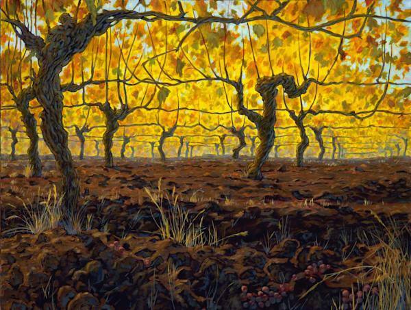 Golden Vines by Beaverton Landscape Artist Michael Orwick