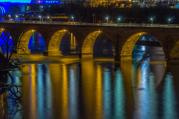 Stone Arch Bridge Reflection Photograph for Sale as Fine Art