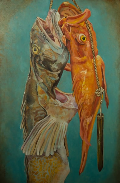 Booker,Tueller,fish,cod fish, rock fish,fair trade, seaside, art, paintings