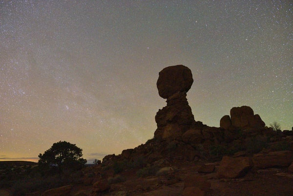 Balanced Rock Night View