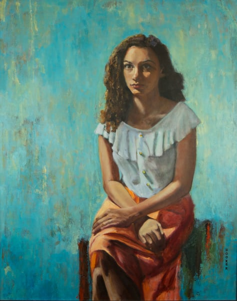 Sicily figurative portrait oil painting and art prints from artist Booker Tueller