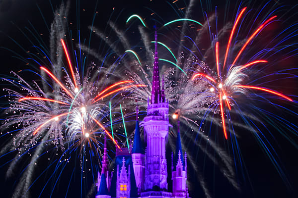 Wishes and Cinderella's Castle 3 Photograph for Sale as Fine Art