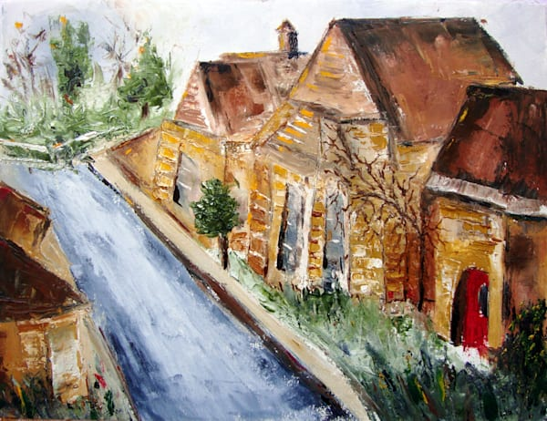 Cotswold Collection Original Oil Paintings featuring the Cotswolds, England by travel Artist Roxy Rich