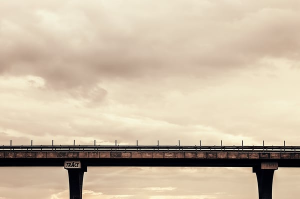 Landscape The Lonely Bridge Pictorial Landscape Photography Fine Art Print by Silvia Nikolov