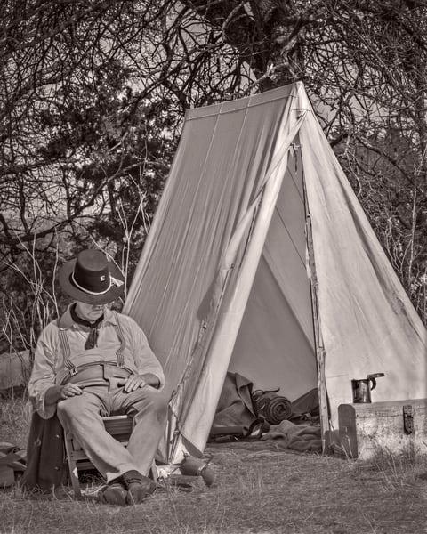 Civil War Reenact Soldier Sleeping Tent Realistic Historic fleblanc
