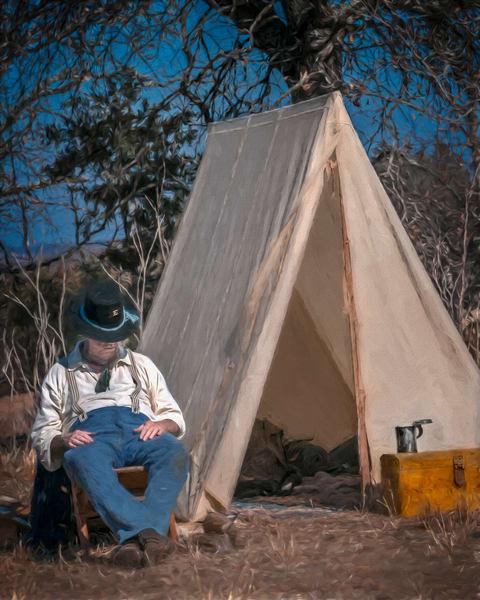 Civil War Encampment Reenact Vintage Realistic Historic fleblanc