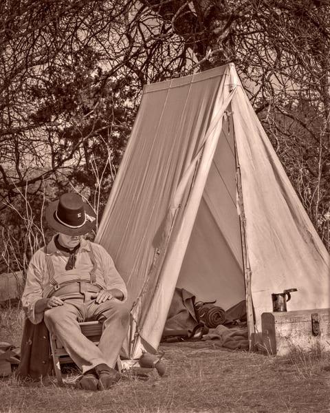 Civil War Encampment Freedom Sepia Realistic Historic fleblanc