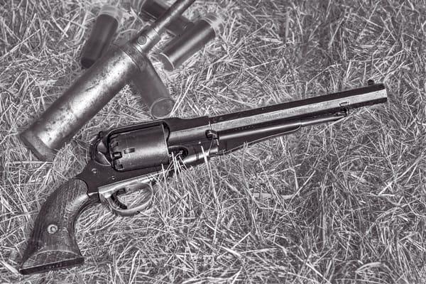 Civil War Handgun 44 Cal Black+White Realistic Historic fleblanc