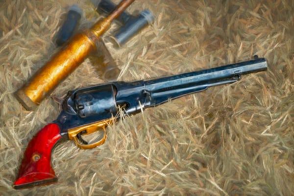 Civil War Handgun Pistol 44 Cal Painting Realistic Historic fleblanc