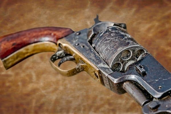 Civil War 44 Cal Black Powder Closeup Realistic Historic fleblanc