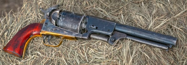 Civil War Soldier Pistol 44 Cal Pistol Pano Realistic Historic fleblanc