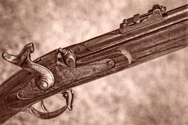 Civil War London Armory Rifle Sepia Decor Realistic Historic fleblanc