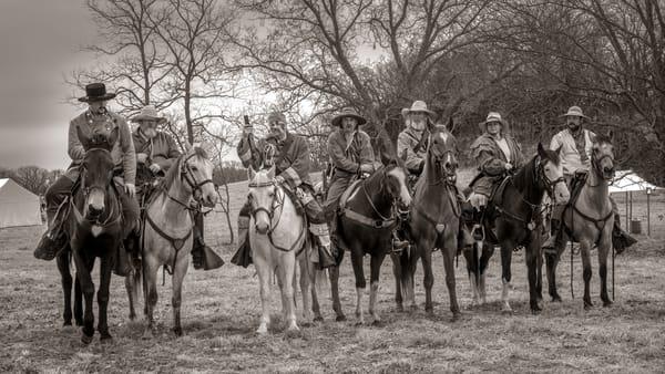 Civil War Cavalry Sepia Monochrome| Realistic Historic fleblanc