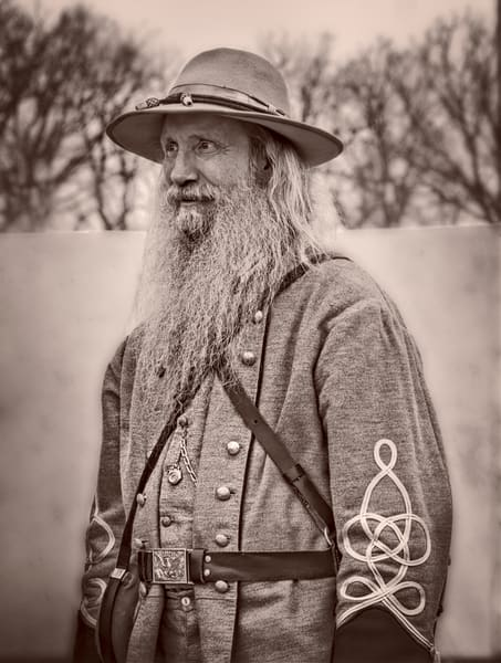 Civil War Officer Portrait Vintage Sepia Realistic Historic fleblanc