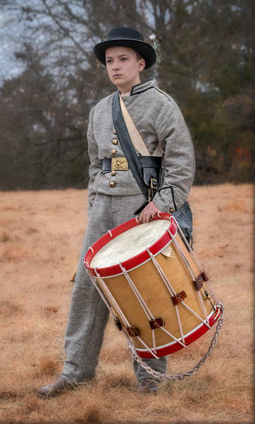 Civil War Drummer Drum Realistic Historic Reenactment fleblanc