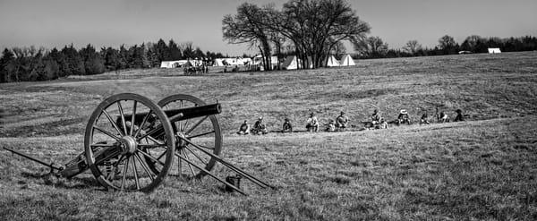 Civil War Canon Ready Monochrome Realistic Historic fleblanc