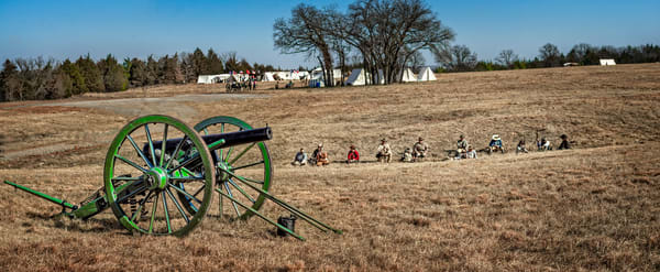 Civil War Canon Ready Battle Pano Realistic Historic fleblanc