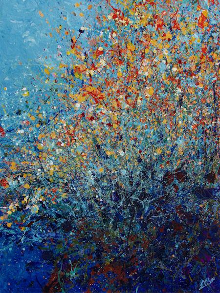 En Chuen Soo l Abstract Desert Wildflowers #6 l Art Prints