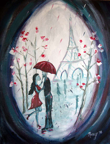 I only have eyes for you, romantic, Paris, Umbrella, couple, Eiffel Tower