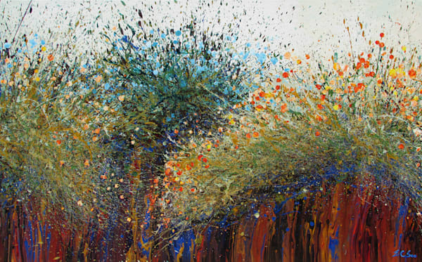 Abstract Desert Wildflowers Art #10 l En Chuen Soo
