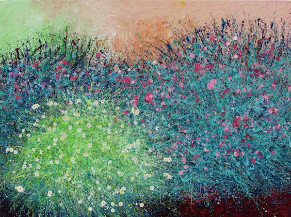 En Chuen Soo l Desert Wildflowers #16 l Art Prints on Metal