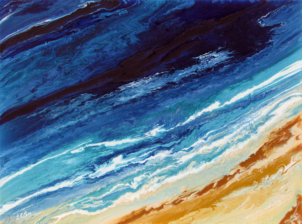Fluidity Texture Abstract Painting