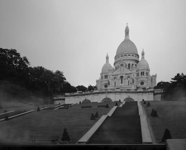 Basilique du Sacre Coeur en Noir et Blanc