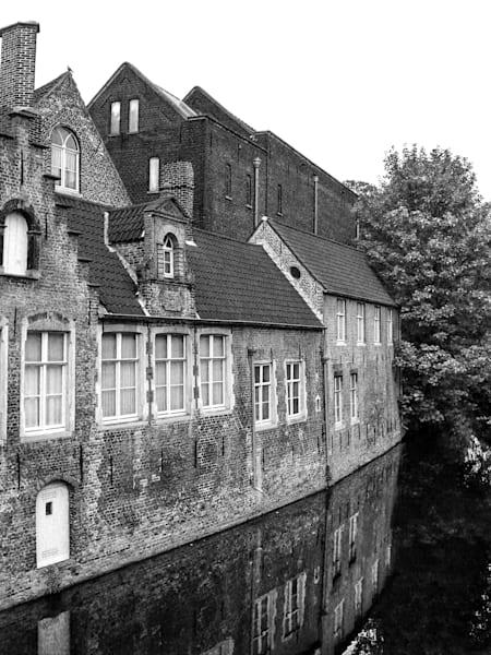 White Canal Door