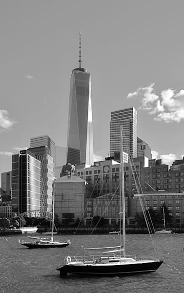 Freedom Tower Over Battery Park City