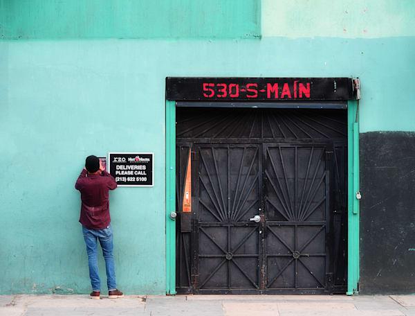 Los Angeles Door VI (Teal)