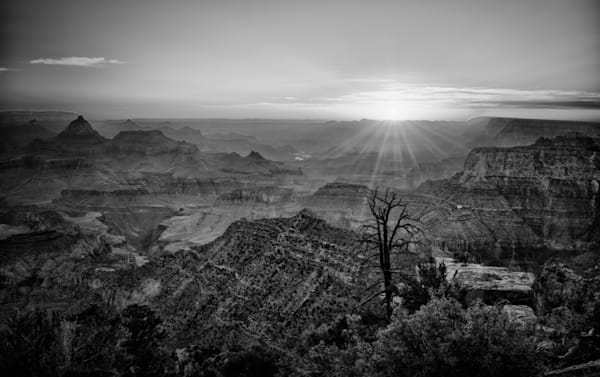 Grand Canyon Sunrise in B&W