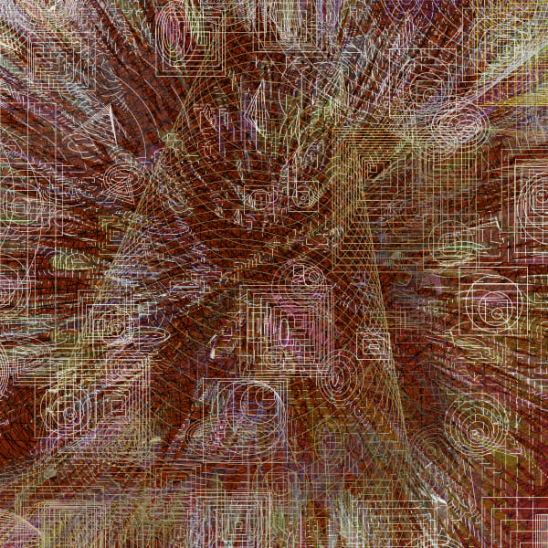 Geosma Algorithmic art by Peter McClard for sale at BrillianceGallery.com