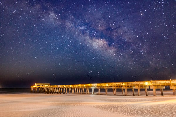 Tybee Pier Milky Way View
